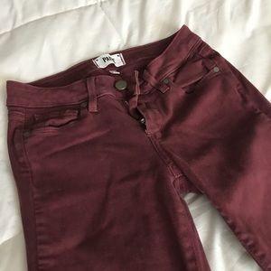 PAIGE Burgundy Pants